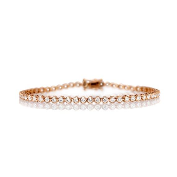 Bracelet Tennis Or Rose