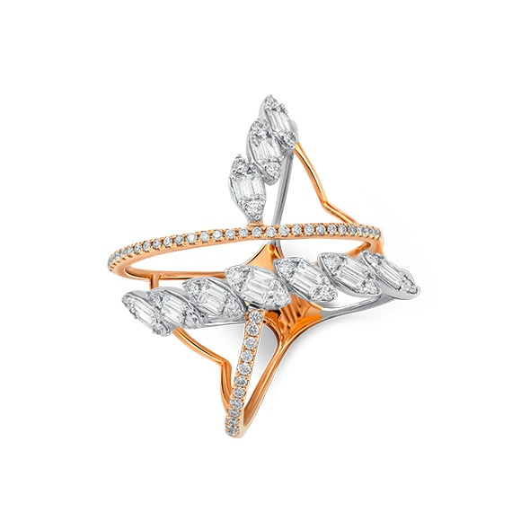 Bague Marquise Cross